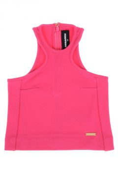 Stretch Fabric Sleeveless Top