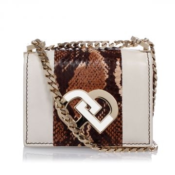 Mini Leather Bag With Snake Details