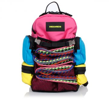 Woven Backpack With Jewel Details