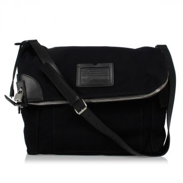 Fabric Traveling Bag with Leather Details