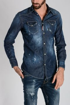 Camicia In Denim stretch