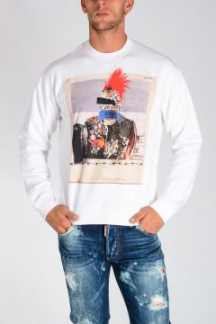 PUNK Printed Cotton Jersey Sweatshirt