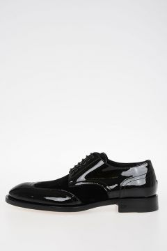 Leather Velvet LACED UP SHOE Shoes