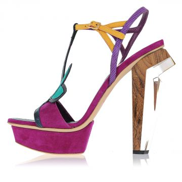 Sandalo in Pelle 13 cm