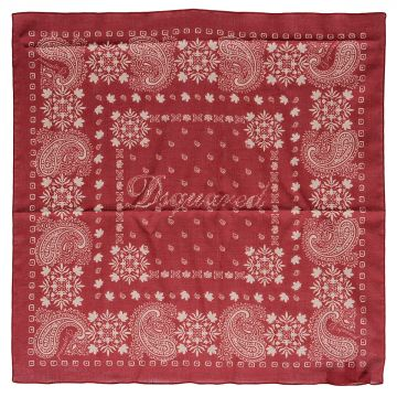 Foulard in Cotone con Stampa Paisley 50 x 50 cm
