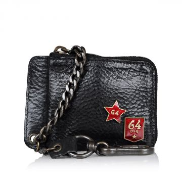 Leather Credit Cards holder with chain