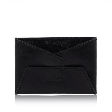 Embossed Leather Credit Card Holder