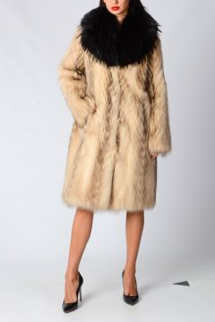 Raccoon Murmanski Real Fur Jacket