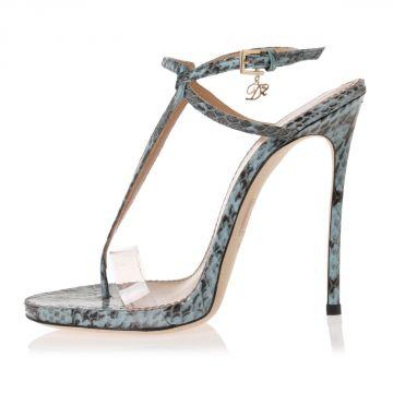 Sandali in Pelle di Ayers Tacco 12 cm