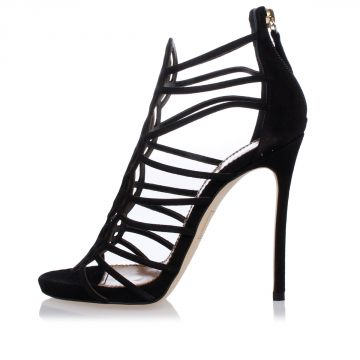 Sandali in Camoscio 12 cm