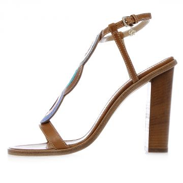 11 cm Leather Sandal