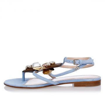 Leather Jewelled Sandals