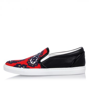 Canvas Printed Slip On Sneakers
