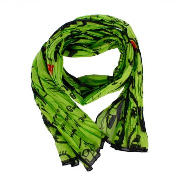 Cotton Printed Scarf 174 x 36 cm