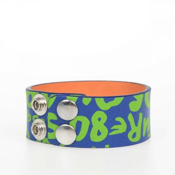 Leather POP Print Bracelet