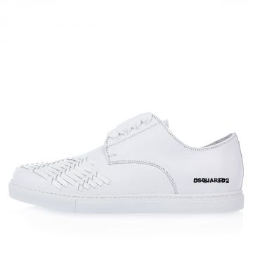 Sneakers in Pelle con Intreccio