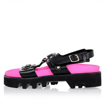 Leather Fluo Sandals