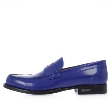 2.5 cm Patent Loafer Leather Shoes