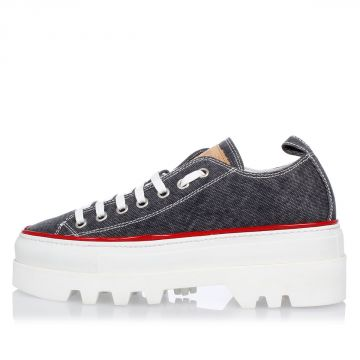Sneakers in canvas con Suola Carrarmata