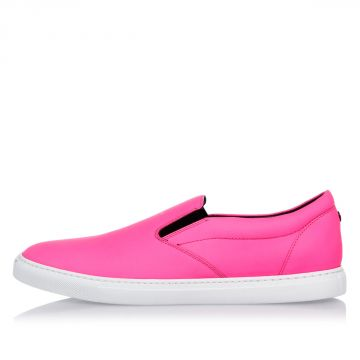 Sneakers in Pelle Fluo