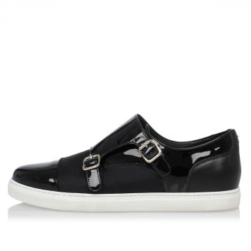 Sneakers Slip On in Tessuto e Pelle