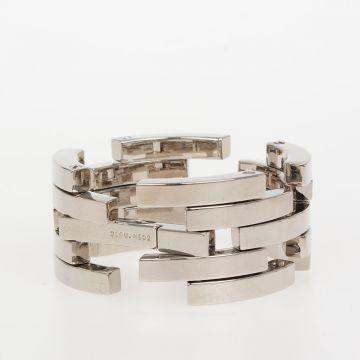 Silver Tone Aluminum Bracelet