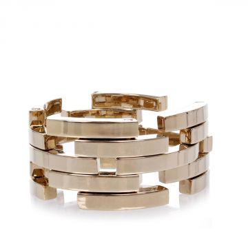 Gold Tone Aluminum Bracelet