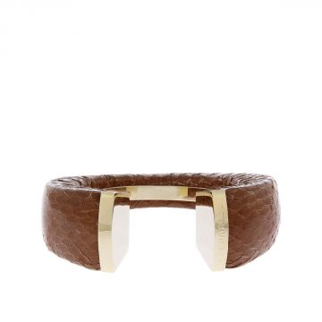 Brass and Ayers Leather Bracelet