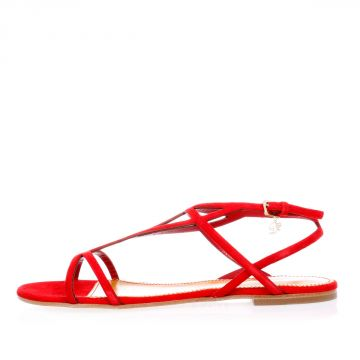 Suede Leather Flat Sandals