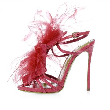 Ayers Leather 12 cm Sandal with Feathers