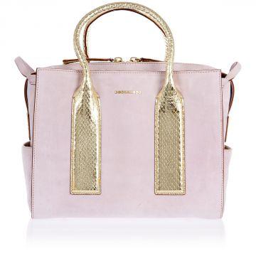 Handbag with Python Skin Details