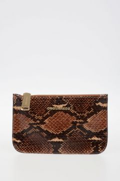 Reptile Leather Mini Pochette