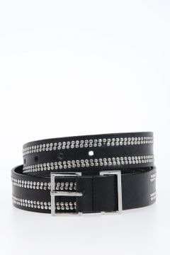 30 mm Studded Leather Belt