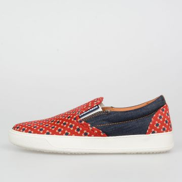 Sneakers Slip On in Velluto