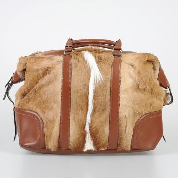 Fur & Leather Large Bowler Bag