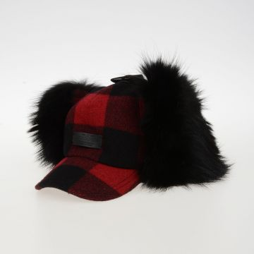ICON Check Wool Felt and Fur Hat