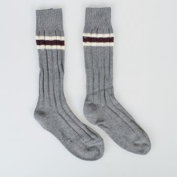 Striped Intarsia Socks