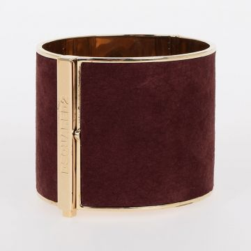 Leather & Brass Rigid Bracelet