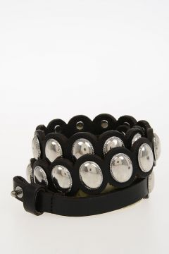 30mm Studded Leather Belt