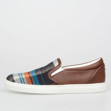 Fabric and Leather BASIC Sneakers