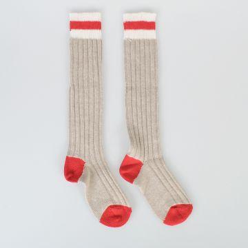 Striped Intarsia Socks