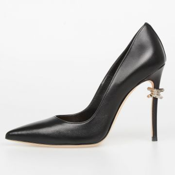 11cm Leather BABE WIRE Pumps