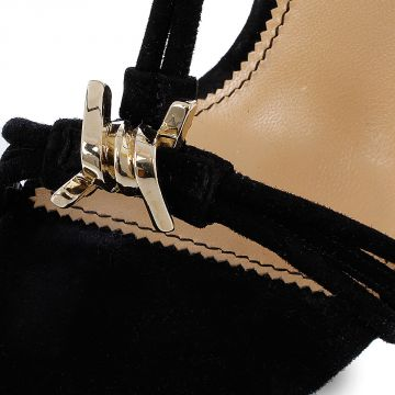 12 cm BABE WIRE Suede Sandal