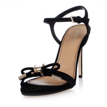 Suede Leather Sandals 10 cm