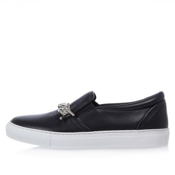 BABE WIRE Leather Sneakers with Chain