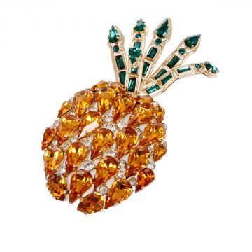 Pineapple Brooch with Stones