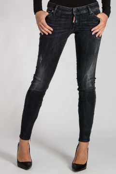 Stretch Denim TWIGGY Jeans 12 cm