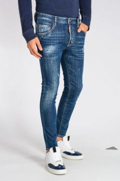Jeans SKATER in Denim di Cotone Stretch 14 cm