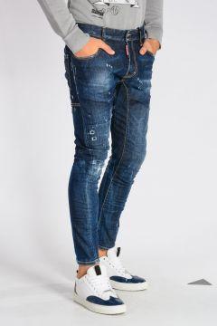 15 cm Stretch Cotton Denim TIDY BIKER Jeans