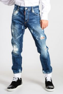 Jeans SKINNY DAN in Denim Destroyed 15 cm